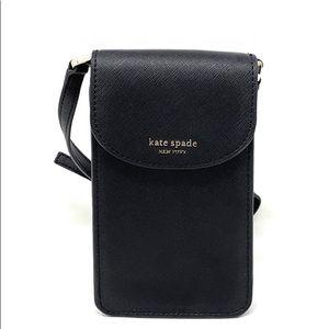 ♠️Kate Spade Cameron NS Flap Phone Crossbody Black